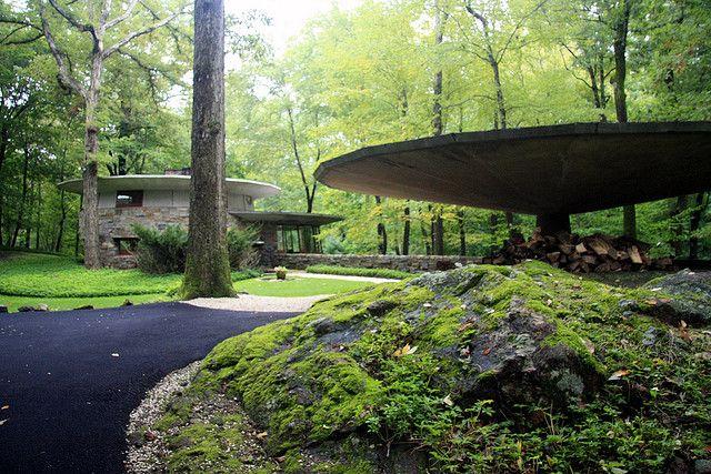 Friedman house. Frank Lloyd Wright. Usonian. Pleasantville, New York. 1950