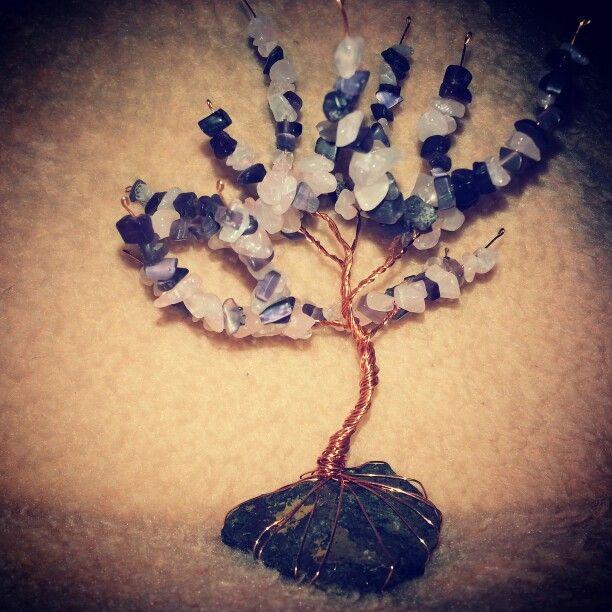 Rosequartz-amethyst tree of life
