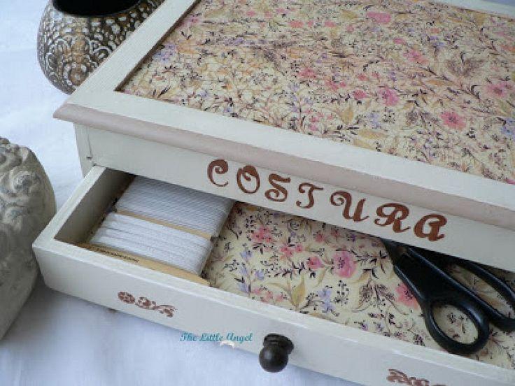 42 best images about cajas para costureros y esmaltes on - Cajas madera manualidades ...