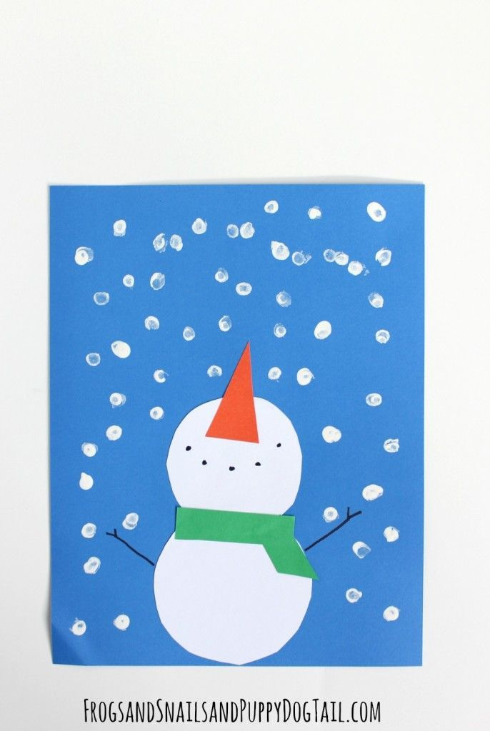 Snowman Craft for Kids - cute snowman craft project, would be perfect for winter themed craft in the classroom!