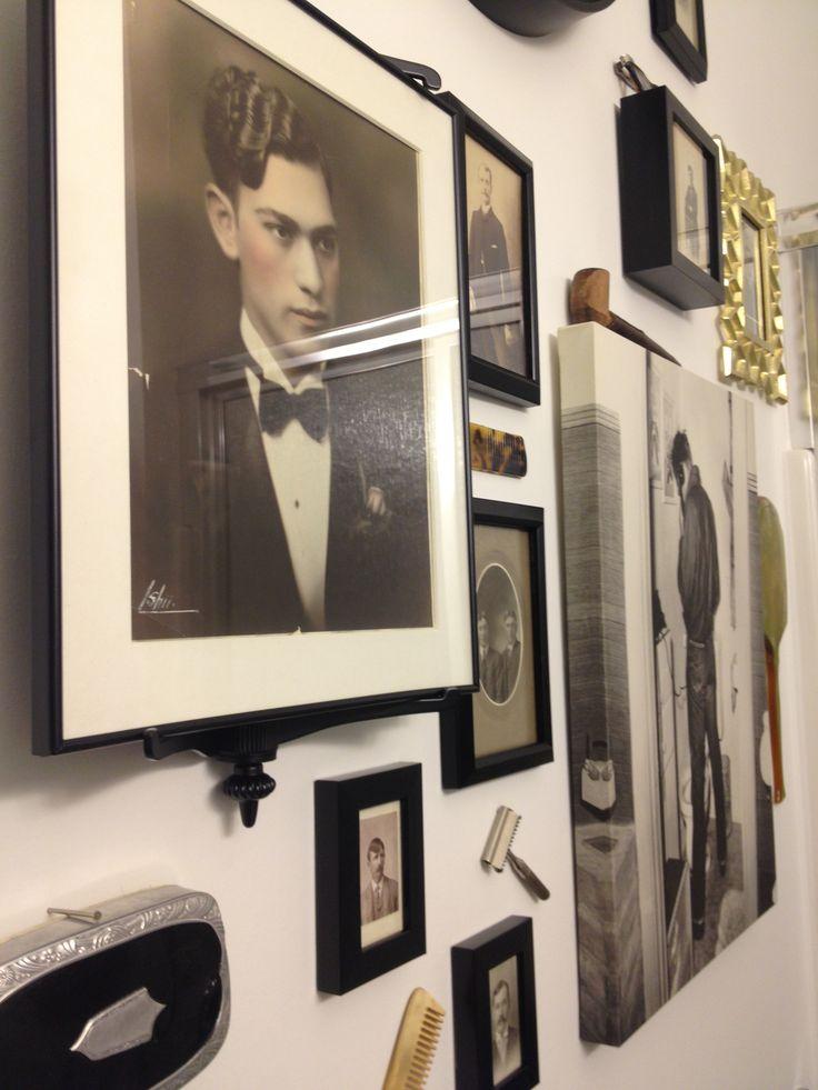 Modern, vintage, hipster, mens, grooming, bathroom, decor