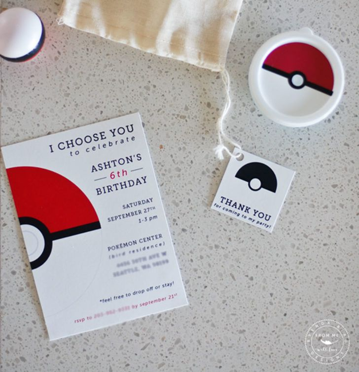 design birthday party invitations free%0A Birthday  Pokedex Birthday Party Invitation Template Custom Pokemon Birthday  Party Invitation Ideas