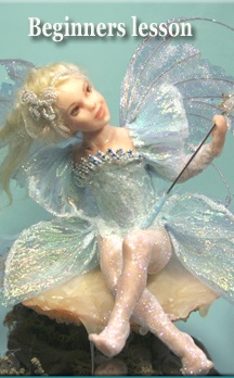 "Beginners Lesson for 5 1/2"" Polymer Clay Fairy"