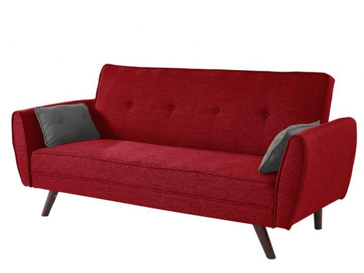 Schlafsofa Klappsofa 3 Sitzer Stoff Yanis Rot Schlafzimmermobel In 2019 Klappsofa Schlafsofa Und Sofa