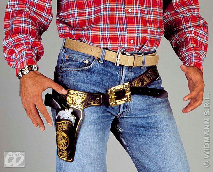 Cowboy bælte med hylster til din udklædning til Cowboy temafesten