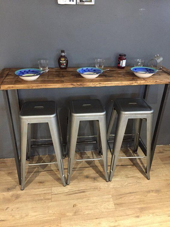 Reclaimed Wood Breakfast Bar Table Breakfast Bar Table Bar Table Small Bar Table
