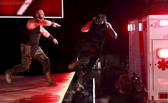 WWE Raw Results: Samoa Joe leaves Brock Lesnar gasping for breath, Roman Reigns accepts Braun Strowman's challenge