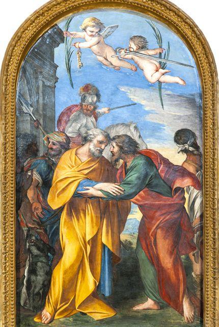Incontro tra San Pietro e San Paolo - Chiesa di San Salvatore, Usigni - Poggiodomo