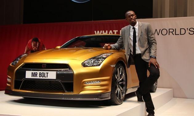 Usain Bolt's Gold Nissan GT-R Sells for $187,100 - World Car Scene