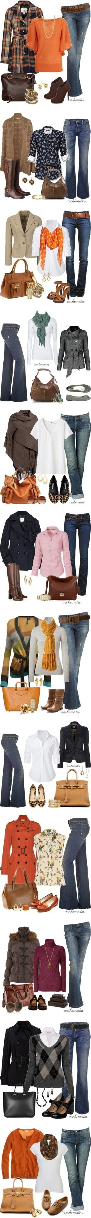 all of these outfits would be perfect for fall!