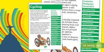 Australia Rio Paralympics 2016 Cycling Display Poster