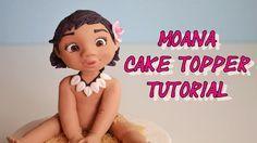 Disney's Moana cake topper fondant - oceania - vaiana in pasta di zucche...