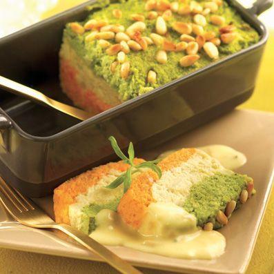 Terrine carottes brocolis Sauce Beurre Citron l Recette Tipiak