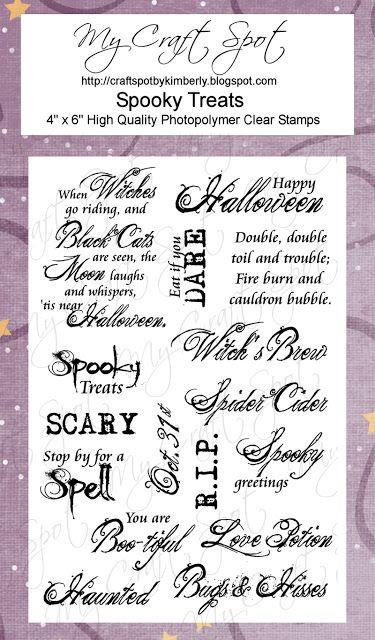 48 best halloween card verses images on pinterest halloween prop my craft spot spooky treats find this pin and more on halloween card verses m4hsunfo