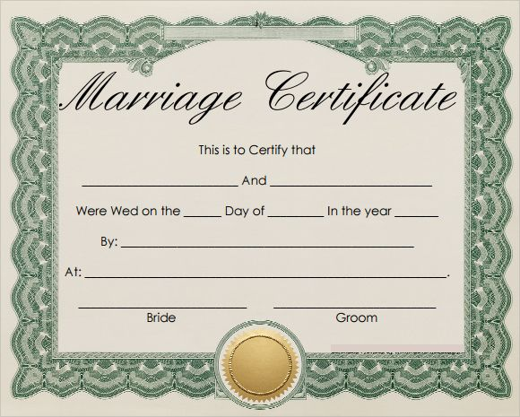 Free 18 Marriage Certificate Templates In Word Psd With Certificate Of Marriage T Marriage Certificate Marriage Certificate Template Certificate Of Marriage