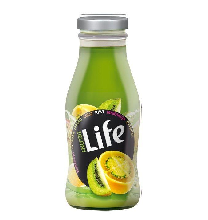 El Zumo LIFE GREEN contiene Kiwi, Limón, Lulo, Manzana y Maracuyá. Los Zumos LIFE!!! Son para un público espontaneo, creativo, enérgico, desenfrenado y divertido. Así que… que va a pasar. De ahora en adelante!!!! . LIFE son zumos de la marca TYMBARK sinónimo de máxima calidad.Botella atractiva de vidrio de 250ml con cierre de rosca.