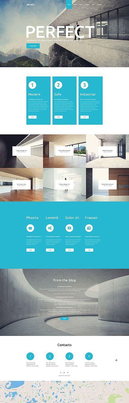 Template 53370 - Architex Architecture  Responsive WordPress  Theme