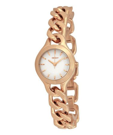 Love this Rose Gold Slim Chain Bracelet Watch by DKNY on #zulily! #zulilyfinds