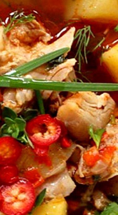 Rustic Chicken Potato Soup ❊