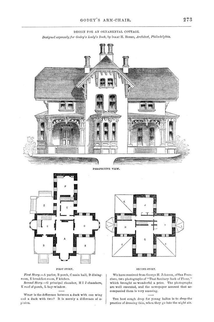 Godeys ladys book september 1864 cottage design lady