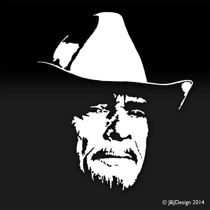 Merle Haggard White Decal Window Sticker Country Music Tv
