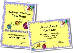 Printable Science Certificate Templates
