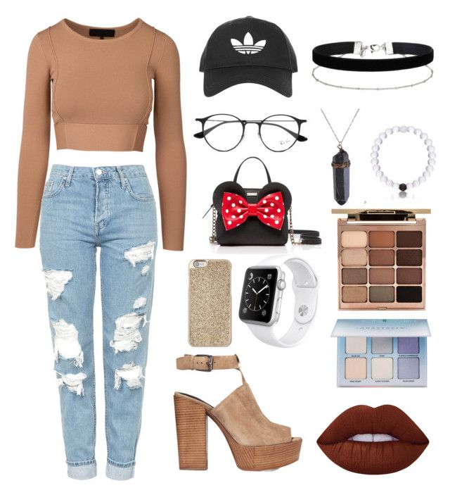 """Untitled #95"" by macigilbert8 ❤ liked on Polyvore featuring Topshop, Rebecca Minkoff, Kate Spade, Ray-Ban, Michael Kors, Apple, Miss Selfridge, Stila, Lime Crime and Anastasia Beverly Hills"