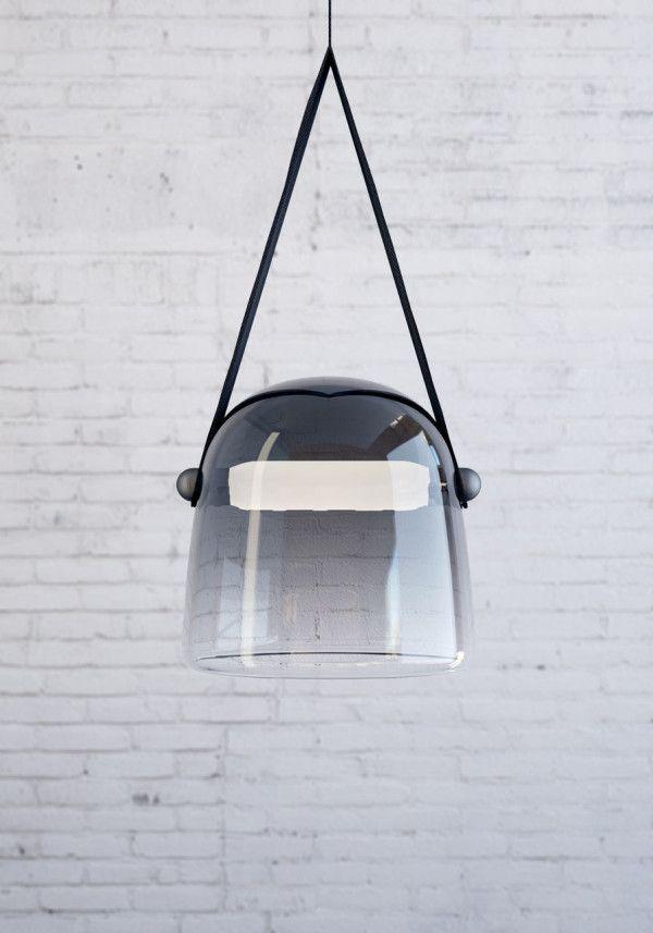 statement glass lighting in industrial black | lighting . Beleuchtung . luminaires | Design: Mona Lighting | Lucie Koldova | Brokis |