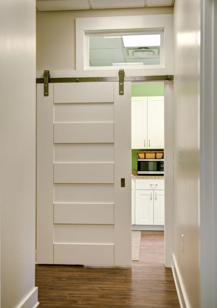 Trustile doors tm9160 barn door made with solid paint for Paint grade interior doors