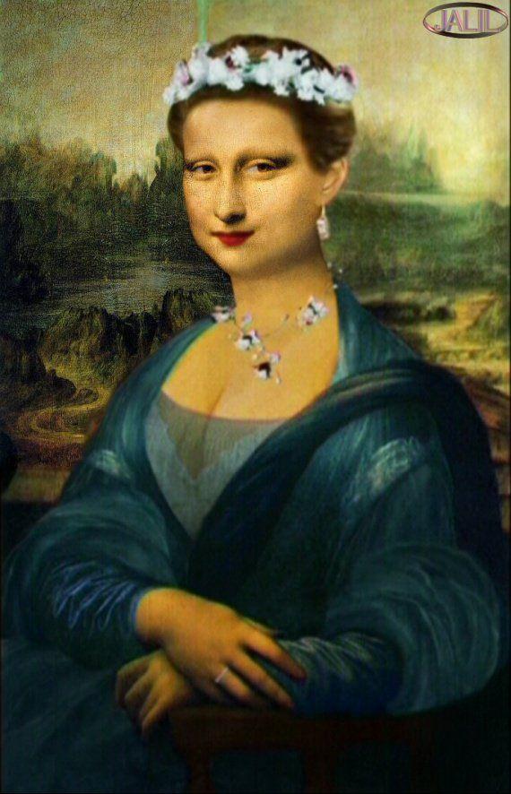 Joconde Mona Lisa la princesse Mona Lisa -More Pins Like This At : 🗽🎆🌈FOSTERGINGER @ Pinterest.🌠🗽🌠