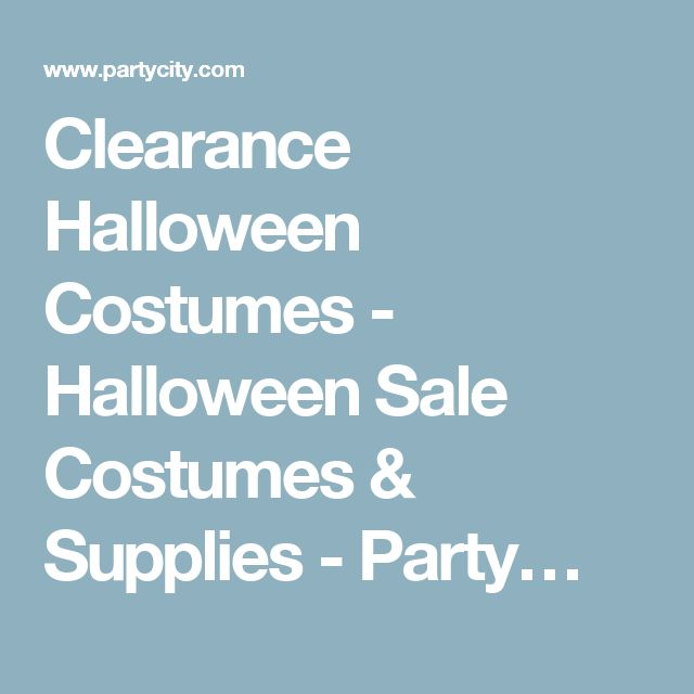 Clearance Halloween Costumes - Halloween Sale Costumes & Supplies - Party…