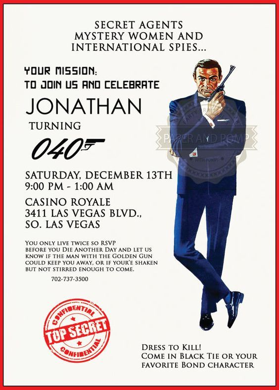 67 best images about Party Themes – Casino Royale Party Invitations