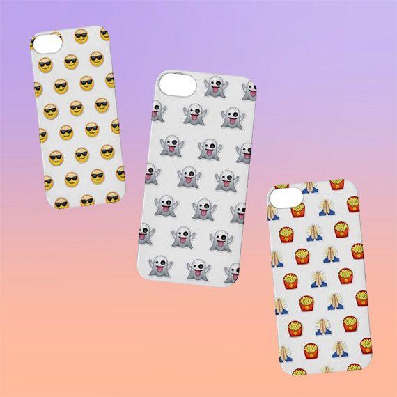 Emoji iPhone Case iPhone 4, 5, 6 | Choose Your OWN EMOJI! Tumblr Cute Kawaii Cool by shopalienz on Etsy https://www.etsy.com/listing/218966567/emoji-iphone-case-iphone-4-5-6-choose