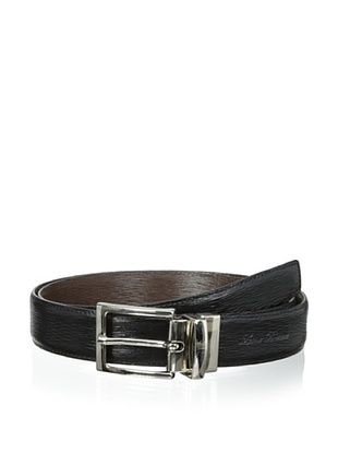 50% OFF Leone Braconi Men's Minipaglia Reversible Belt (Black/Testa Moro)