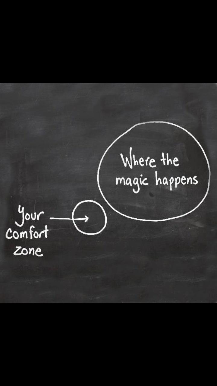 Magie gebeurt vaak als je buiten je comfortzone bent!