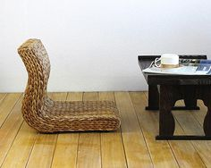 Aliexpress.com : Buy Handmade Japanese Floor Legless Chair Made From Banana Leaves Sitting Room Furniture Asian Traditional Tatami Zaisu Chair from Reliable furniture recliner chair suppliers on TATA Washitsu Interior Design & Decor | Alibaba Group
