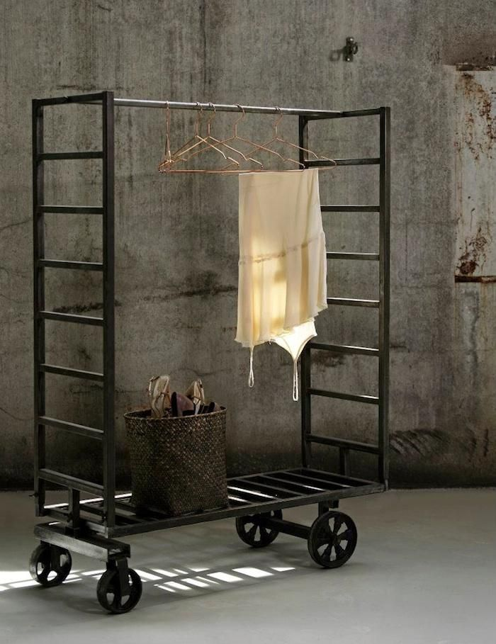 multi use • (coat rack or rolling closet) • (organizational rack in studio or kitchen) ~ industrial styling ~ from the line of 'pernile stoltz' ~ of 'madam stoltz' -denmark  ❀ ~  ◊  photo via 'remodelista' website