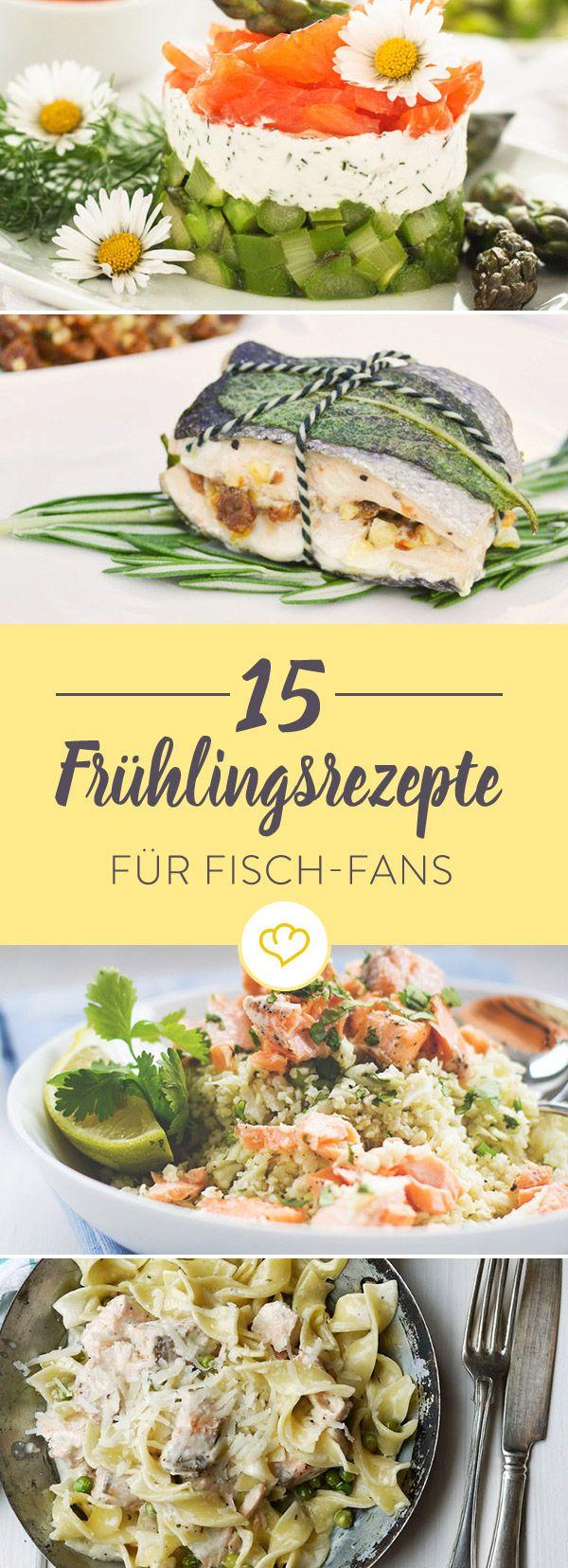 Was im Frühlings besonders lecker schmeckt? Fisch. Ob Thunfisch oder Lachs, zu Spargel oder Tomaten - 15 raffinierte Ideen für dein Frühlingsdinner.