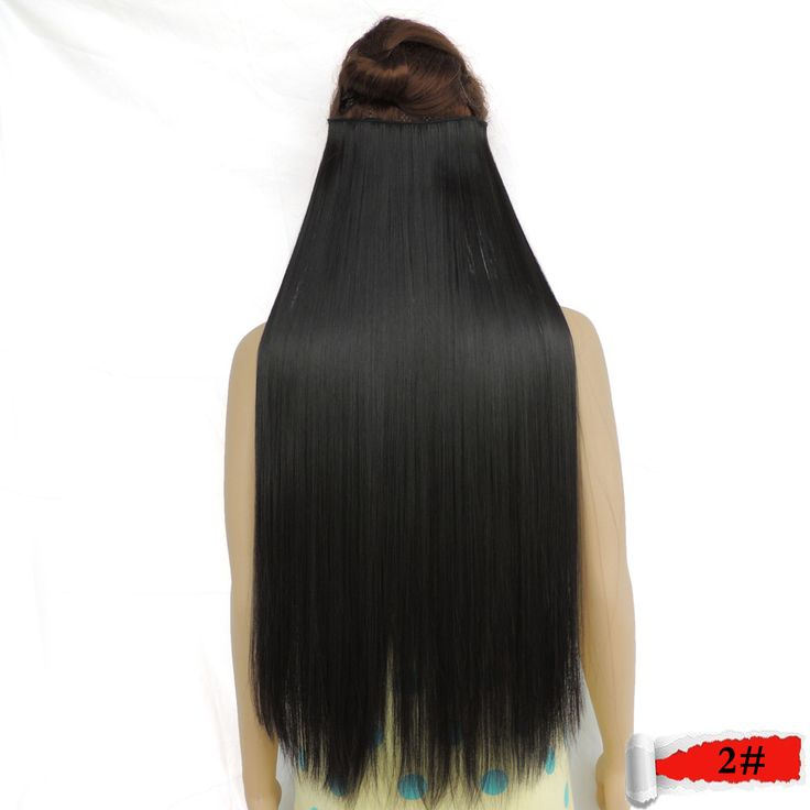 clip in hair extension extensions synthetic haar extensiones super long expression girl straight secret de pelo natural 2#