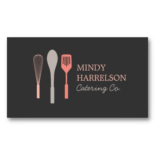 WHISK SPOON SPATULA LOGO IV for Bakery, Catering Business Cards