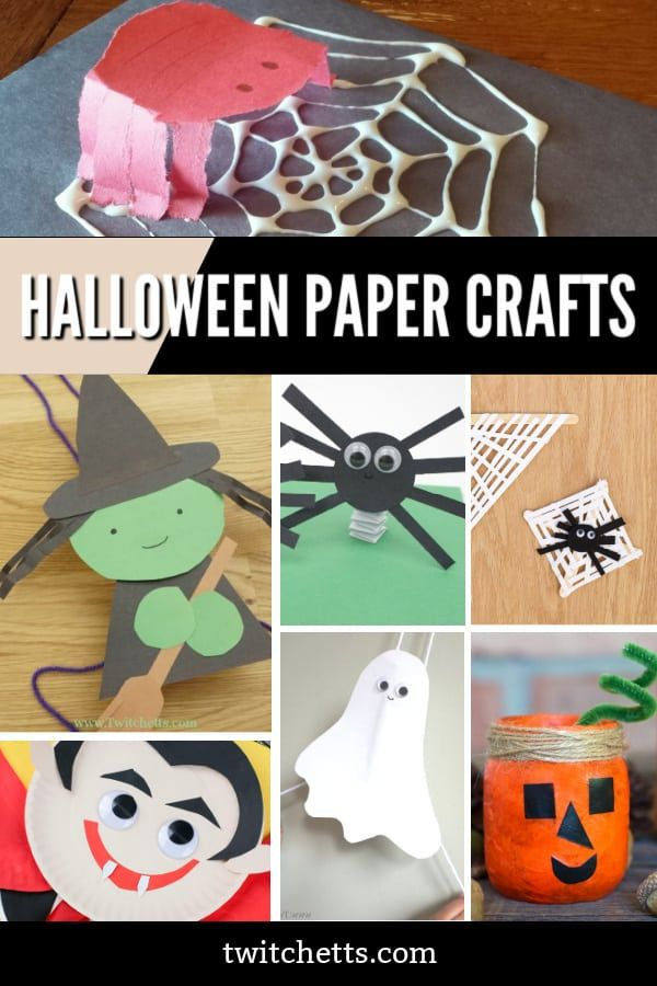 20 Easy Halloween Paper Crafts Kids Will Want To Make Halloween Paper Crafts Halloween Crafts Preschool Construction Paper Crafts