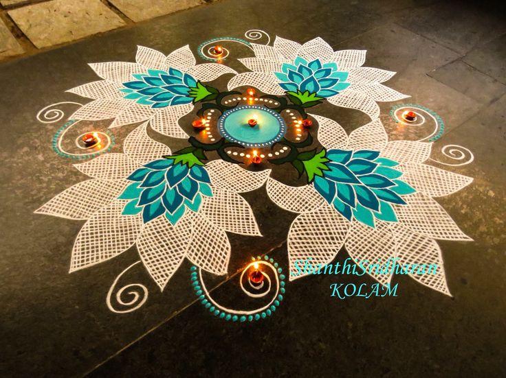 #kolam#net#blue#flower