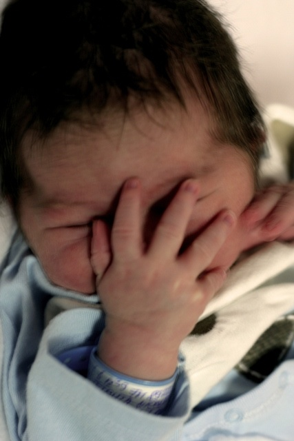 My nephew, face-palming since his first day of birth.