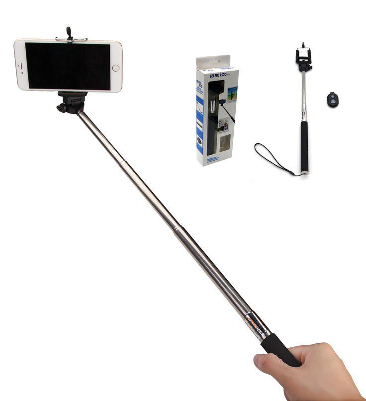 selfie stick extendable selfie rod handheld stick monopod with adjustable phone holder white. Black Bedroom Furniture Sets. Home Design Ideas