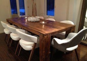 table en bois de grange La Hemlock barn wood dining table
