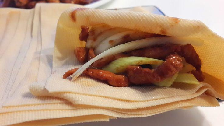 Китайская кухня.  Свинина соломкой в соусе   jing jiang rou si 京酱肉丝mp4