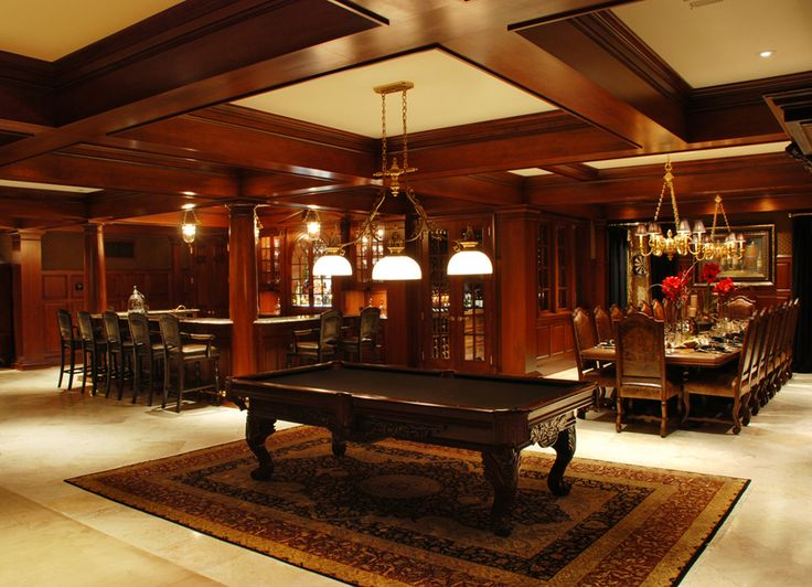 Luxurious Basement Featuring A Pool Table, Dining Area And Bar. #KansasCity  #Homes | Not Your Grandmotheru0027s Basement | Pinterest | Pool Table, Dining  Area ...