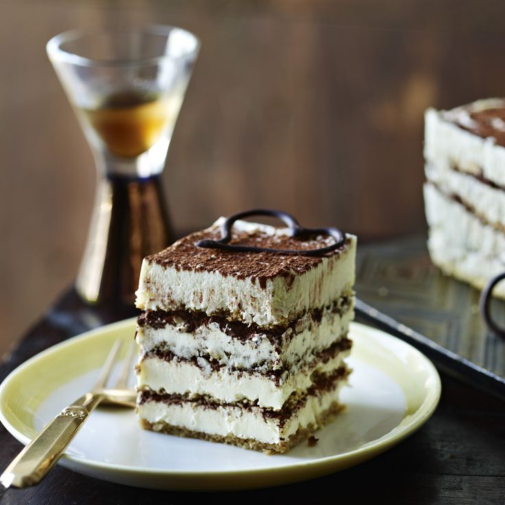 How very grown-up and sophisticated - so why does this tiramisu cake have us excited like little schoolgirls?