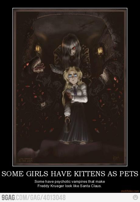 I want one too .(name of anime : Hellsing ,Name of vampier : alucard )