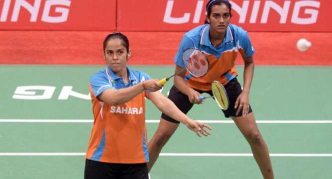 After guiding the women's badminton team to a historic bronze two days ago, India's top shuttlers #SainaNehwal and P V Sindhu opened their campaign in the Asian Games individual competitions with thumping victories in the singles event.